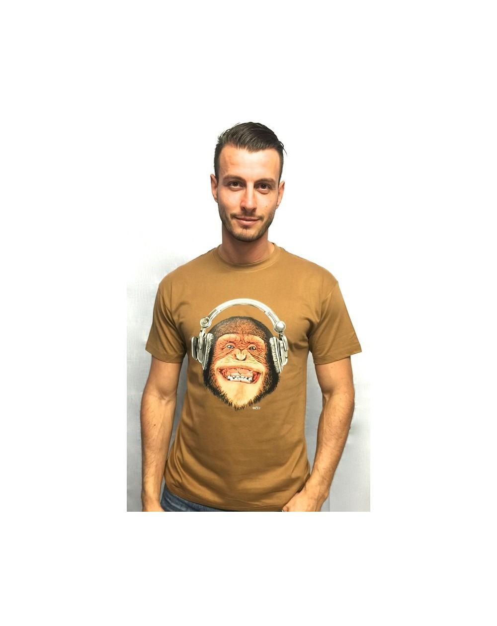 "Camiseta con realidad aumentada ""Mono Music"""